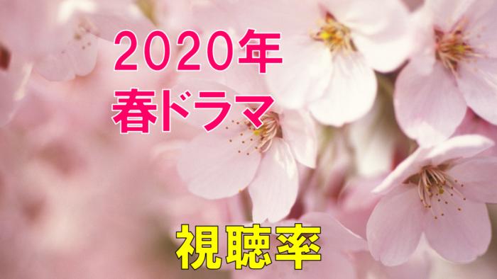 2020年4月~春ドラマ 視聴率比較