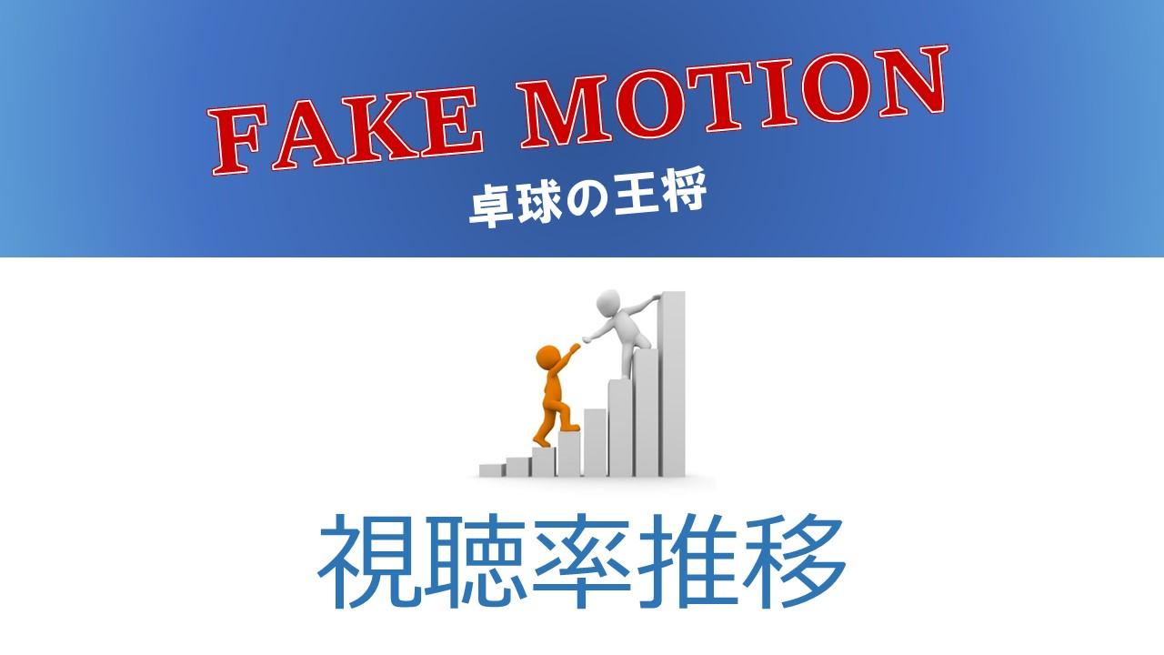 FAKE MOTION -卓球の王将- 視聴率推移