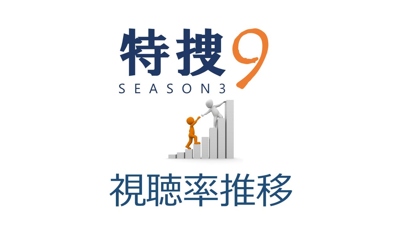 特捜9season3 視聴率推移