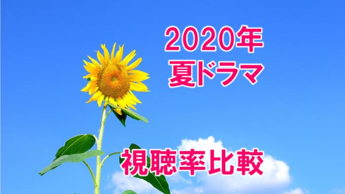 2020年7月~夏ドラマ 視聴率比較