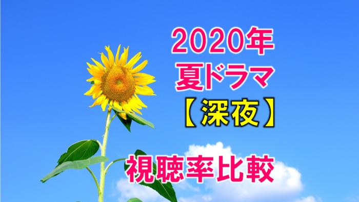 深夜ドラマ2020年7月~夏ドラマ 視聴率比較