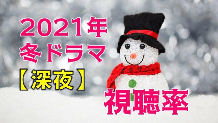 深夜ドラマ2021年1月~冬ドラマ 視聴率比較