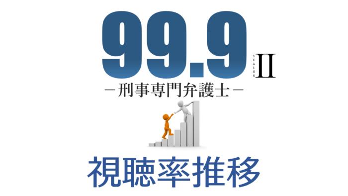99.9 -刑事専門弁護士- SEASON2 視聴率推移